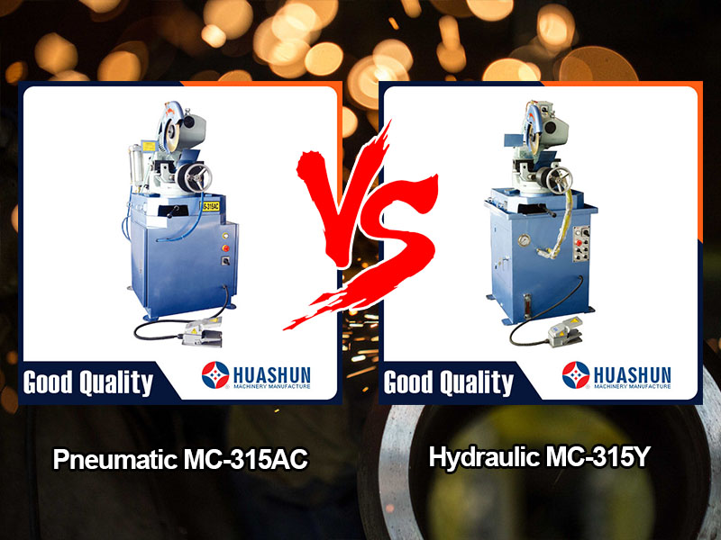 Advantages of pneumatic MC-315AC and hydraulic MC-315Y pipe cutting machine