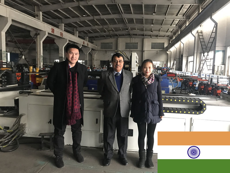 Mr.Kumar from India,come to our factory to discuss a pipe bending machine project